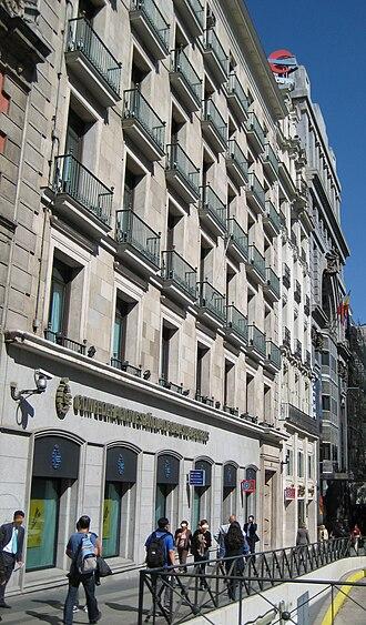 Savings bank (Spain) - The headquarters of Confederación Española de Cajas de Ahorros (Spanish Confederation of Savings Banks) in Madrid.