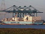 Maersk Kyrenia (ship, 2001), Deurganckdok, Port of Antwerp, Belgium.JPG