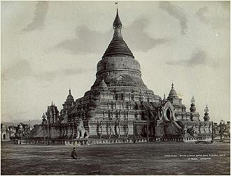 Kuthodaw Pagoda - a photo of Kuthodaw Pagoda in the 1870s.
