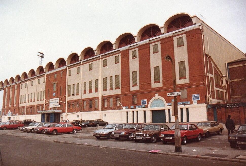 Main Stand, Maine Road, 1985