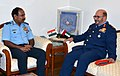Major General Staff Pilot Ibrahim Nasser M Al Alawi, Commander UAE Air Force & Air Defence calling on the Chairman Chiefs of Staff Committee (COSC) and Chief of the Air Staff, Air Chief Marshal Arup Raha, in New Delhi.jpg