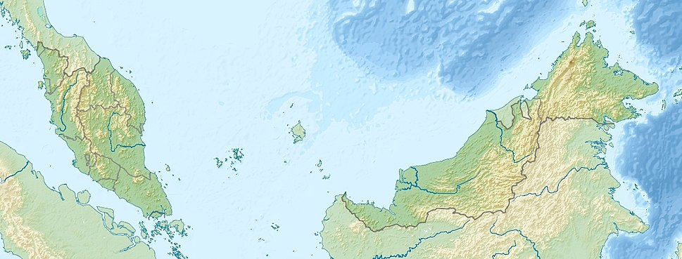 Malaysia relief location map