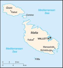 Gozo--Fil:Malta-CIA WFB Map