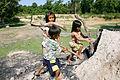 Mangkong children making charcoal.JPG