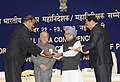 "Manmohan Singh presented President's Police medals for distinguished service, at the ""All India Conference of Directors General Inspectors General of Police-2013"", in New Delhi. The Union Home Minister.jpg"