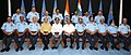 Manohar Parrikar with the Chief of the Air Staff, Air Chief Marshal Arup Raha, Air Force Commanders and senior officials of the Ministry of Defence, during the concluding day of Air Force Commanders' Conference, in New Delhi.jpg