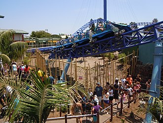SeaWorld San Diego - Manta roller coaster at Sea World San Diego