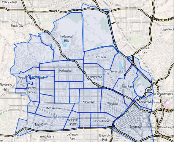 File:Map Central Los Angeles region of Los Angeles, California.png on