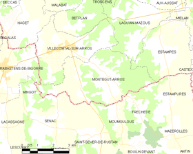 Map commune FR insee code 32283.png
