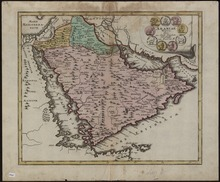 a map of the arabian peninsula made in 1720 by the german publisher christoph weigel