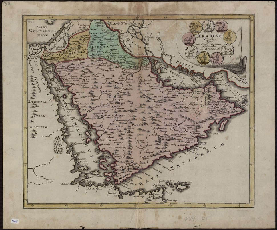 Map of Ancient Arabia - 1720