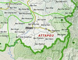 Map of Attapeu Province