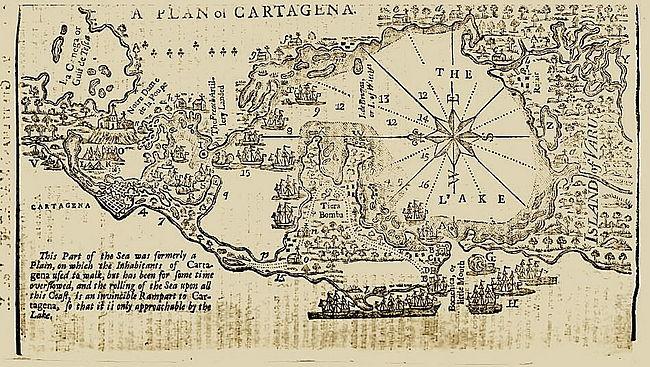 Battle Of Cartagena De Indias Wikiwand - Cartagena de indias map