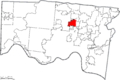 Map of Hamilton County Ohio Highlighting Wyoming City.png