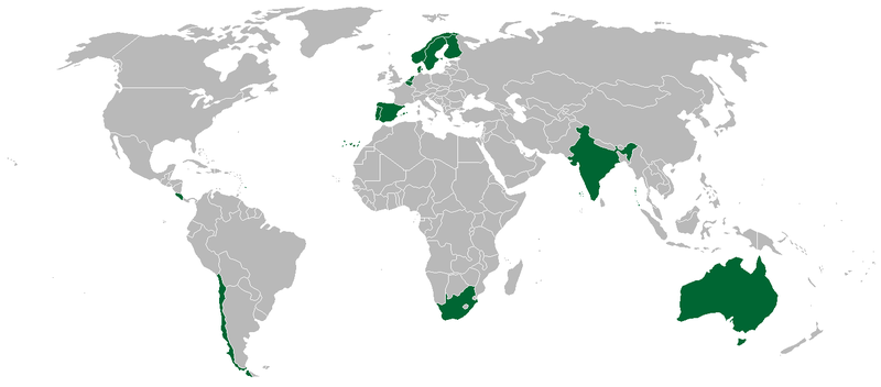 Berkas:Map of International Institute for Democracy and Electoral Assistance founding members.png