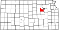 Map of Kansas highlighting Geary County.svg