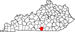 State map highlighting Cumberland County