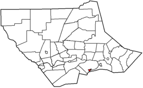 Map of Lycoming County Pennsylvania Highlighting Montgomery.png