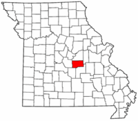 Map of Missouri highlighting Maries County.png