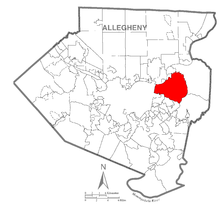 Map of Penn Hills Township, Allegheny County, Pennsylvania Highlighted.png