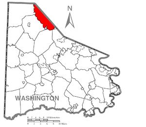 Robinson Township, Washington County, Pennsylvania - Image: Map of Robinson Township, Washington County, Pennsylvania Highlighted