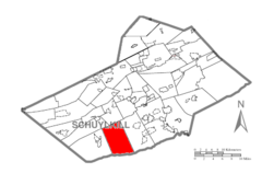 Map of Schuylkill County, Pennsylvania Highlighting Washington Township.PNG