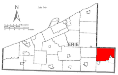 Map of Wayne Township, Erie County, Pennsylvania Highlighted.png