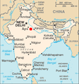 Map of india position of Allahabad highlighted.png
