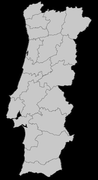 Ficheiro:Mapa de Portugal - Distritos plain.png