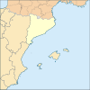 Badalona is located in Catalunya