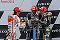 Marc Márquez, Valentino Rossi and Cal Crutchlow 2013 Assen.jpg