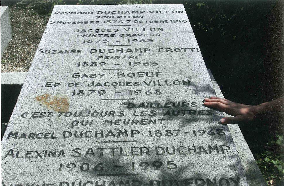 Marcel Duchamp's gravestone in Rouen, France