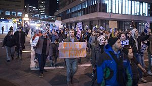 Protests against Donald Trump - March against Trump in Saint Paul, Minnesota, on November 9