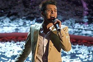 English: Marco Carta at Sanremo Music Festival...
