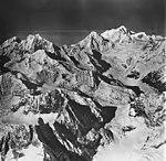 Margerie Glacier, tidewater glacier, icefall, and cirque glaciers, September 12, 1973 (GLACIERS 5635).jpg