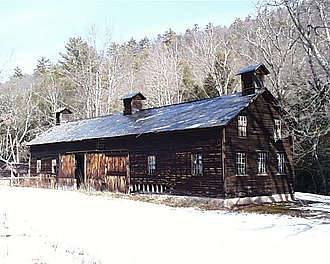 Delaware Water Gap National Recreation Area - Image: Marie Zimmerman Farm Hog Barn DWG NPS