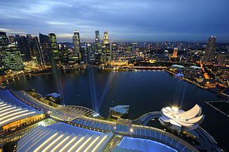 Land reclamation in Singapore - Modern Singapore's Marina Bay area, a development made possible through land reclamation.