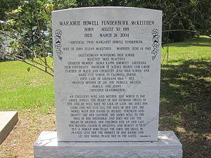 John McKeithen - Marjorie McKeithen monument