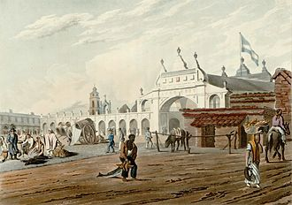 Economic history of Argentina - Buenos Aires marketplace, 1810s