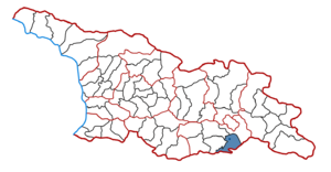 Marneuli Municipality - Marneuli District on the map of Georgia