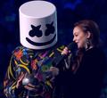 Marshmello and Lindsay Lohan at EMA 2018 2.png