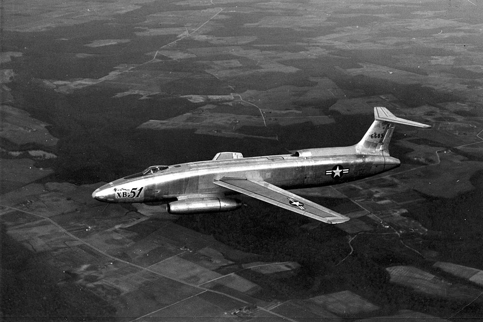 Martin XB-51 46-585 in flight