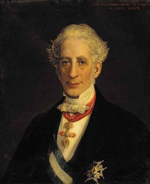 Retrato del poeta, dramaturgo, político y diplomático español Francisco Martínez de la Rosa.