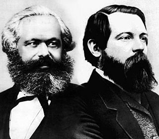 Economic and sociopolitical worldview based on the works of Karl Marx