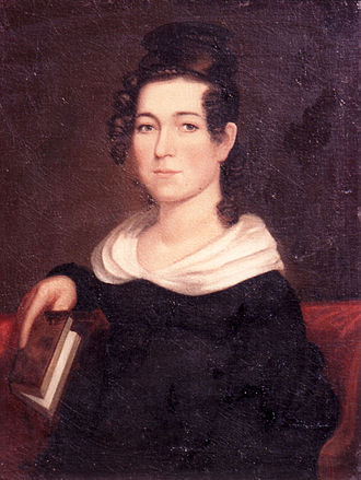 Mary Easton Sibley - Painting of Mary Easton Sibley by Chester Harding c1830s