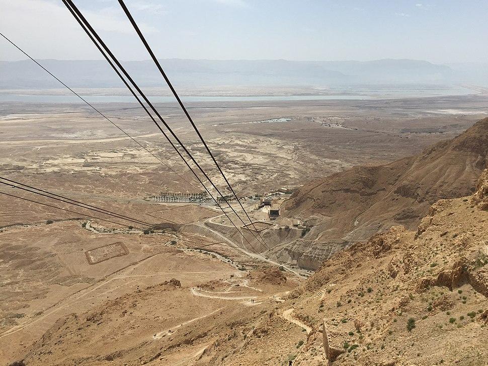 Masada cableway down