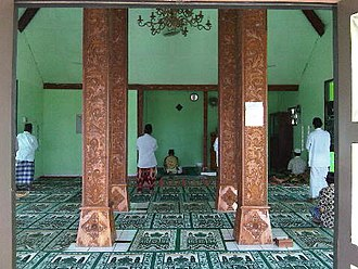 Saka guru - The saka guru of a Javanese mosque.