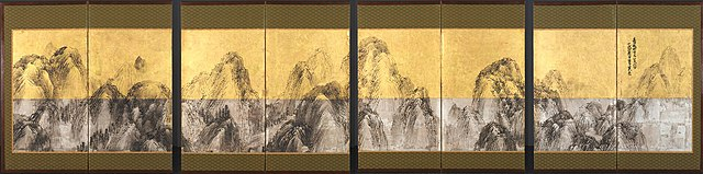 file matsumura goshun seventy two peaks against the blue sky 1785 cleveland museum of jpg