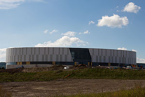 Mattamy National Cycling Centre - Mattamy National Cycling Centre under construction in Milton, Ontario, Canada