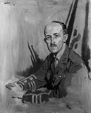 Maurice Hankey, 1st Baron Hankey - Painting of Hankey in military uniform by William Orpen, 1919